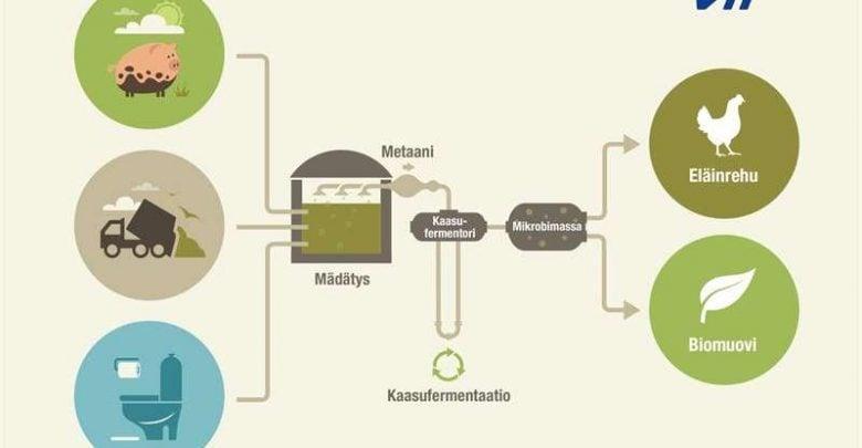 زیست گاز، منبع تولید پروتئین و پلاستیک زیستی