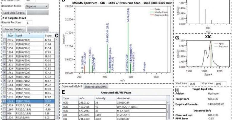 Open-source software rapidly processes spectral data, accurately identifies and quantifies lipid species - اخبار زیست فن
