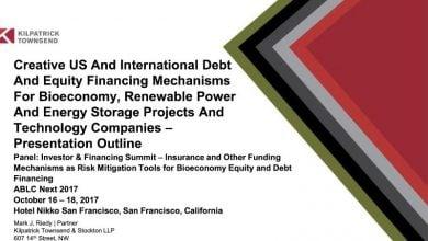 Photo of مکانیزم های تأمین مالی خلاق: راهنمای خلاصه چندرسانه ای 2017  برای ساختارهای پروژه های زیستی و انرژی