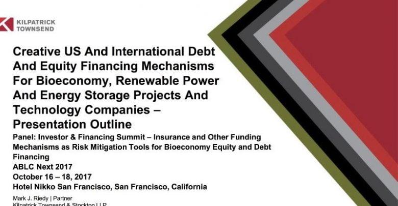 مکانیزم های تأمین مالی خلاق: راهنمای خلاصه چندرسانه ای 2017 برای ساختارهای پروژه های زیستی و انرژی - اخبار زیست فناوری