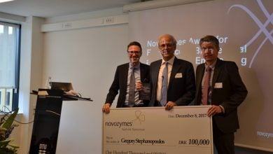 Gregory Stephanopoulos wins Novozymes Award for Excellence in Biochemical and Chemical Engineering