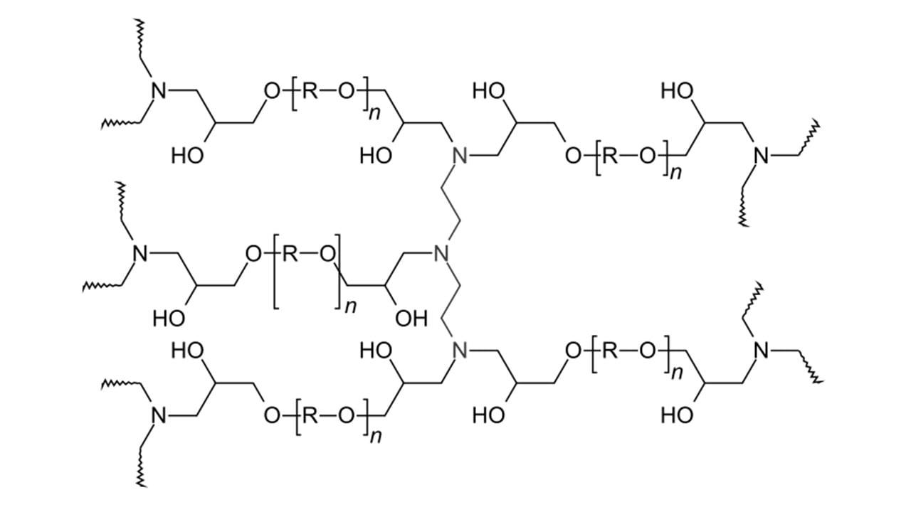 ساختار شیمیایی اپوکسی رزین