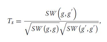 فرمول Normalized Smith-Waterman Score